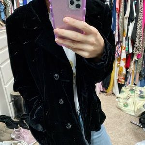 Vintage black velvet jacket size 14
